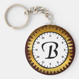 Letter B Clockwork Keychain