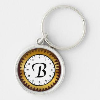 Letter B Clockwork Premium Keychain