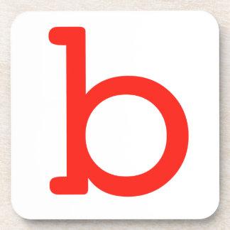 Letter b coaster