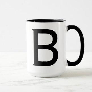 Letter B-Copperplate Mug