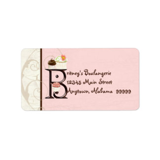 Letter B  Cupcake Business Address Mailing Labels