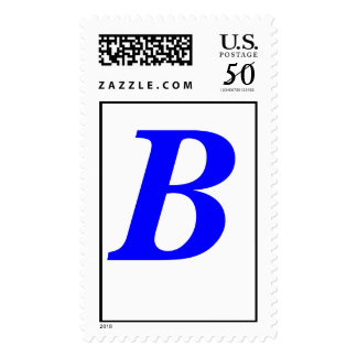 Letter B - Customized Postage