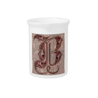 Letter B Drink Pitcher