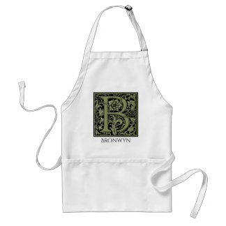 Letter B First Letter Monogram Personalized Adult Apron