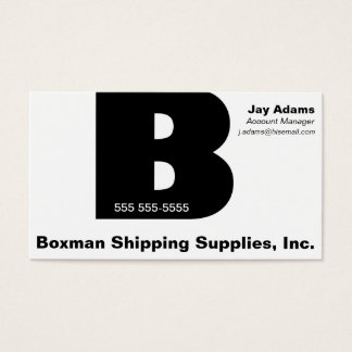 Letter B Gill bold Business Card