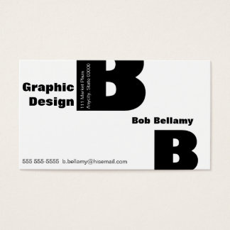 Letter B Gill font Business Card
