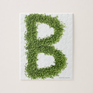 Letter 'B' in cress on white background, Jigsaw Puzzle