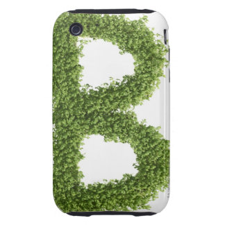 Letter 'B' in cress on white background, Tough iPhone 3 Case