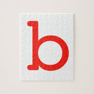 Letter b jigsaw puzzle