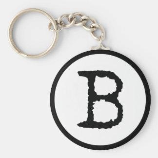 Letter B Keychain