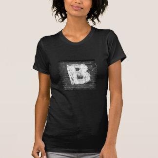 Letter B Ladies T-shirt (black)