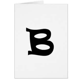 Letter B_large Card
