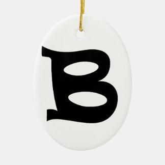 Letter B_large Ceramic Ornament
