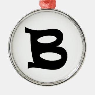 Letter B_large Metal Ornament