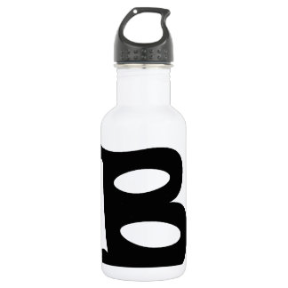 Letter B_large Stainless Steel Water Bottle