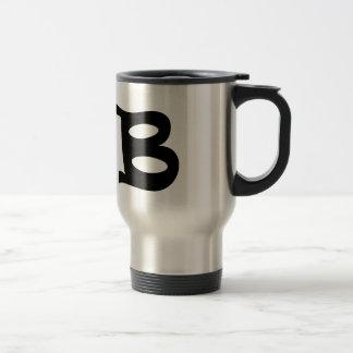 Letter B_large Travel Mug