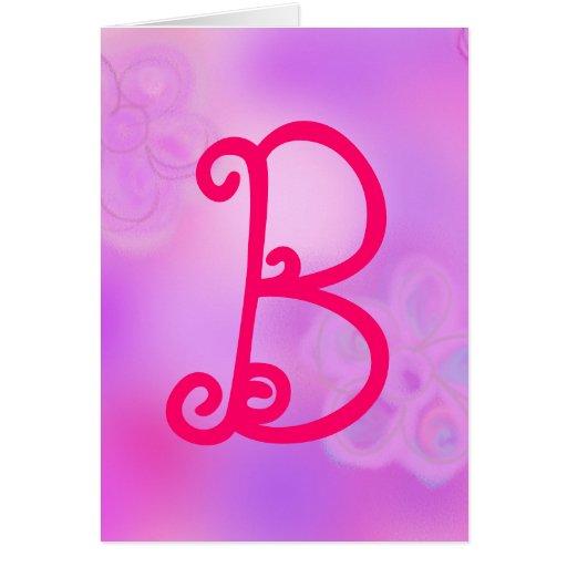 Letter B Monogram Notecard