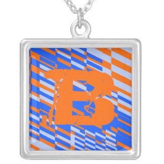 Letter B Monogram Shatter Necklace