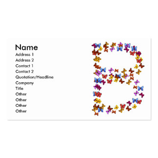 Letter B of colorful butterfly graphics Business Card
