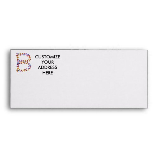 Letter B of colorful butterfly graphics Envelope