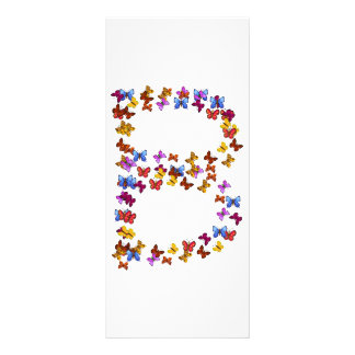 Letter B of colorful butterfly graphics Rack Card
