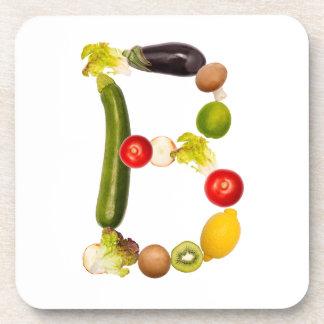 "letter ""B"" of fruits and vegetables Beverage Coaster"
