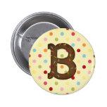 Letter B Pinback Button