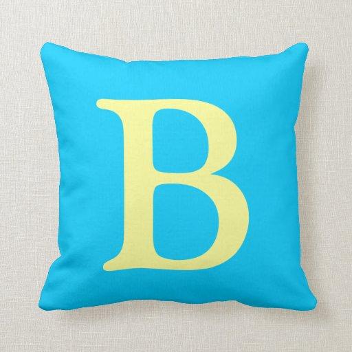 Letter B throw pillow Zazzle