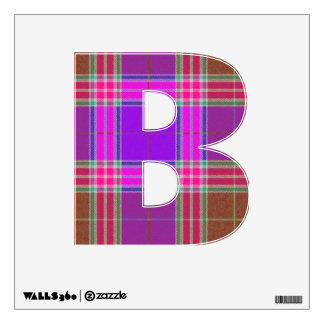 letter B vintage tartan plaid punk rock skater Wall Decal