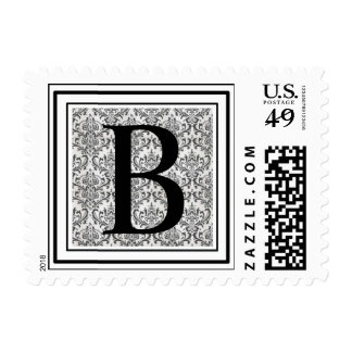 Letter B Wedding Stamps