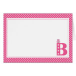 Letter B with Owl Blank Note Card