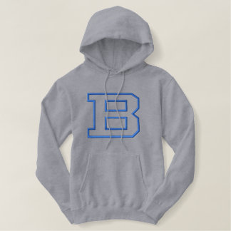 Letter B without Banner Embroidered Hoodie