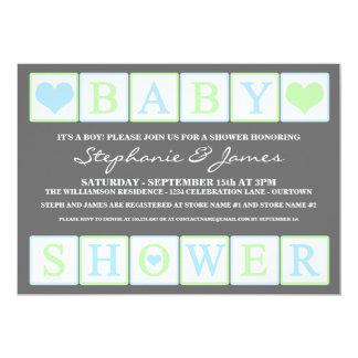 Letter Blocks Baby Shower (boy) Invitation
