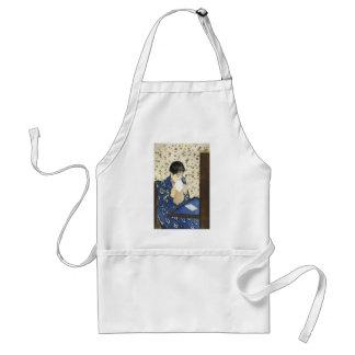 Letter by Mary Cassatt, Vintage Impressionism Art Apron