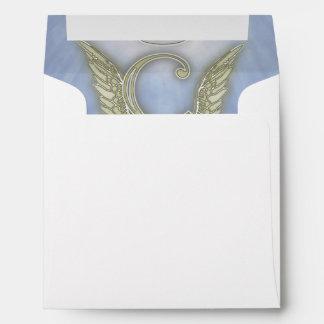 Letter C Angel Monogram Envelope