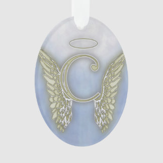 Letter C Angel Monogram Ornament