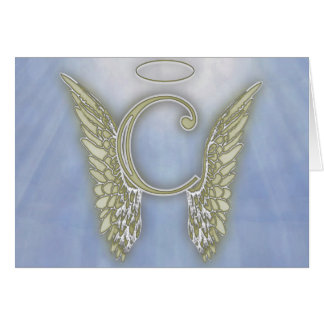 ... Angel Monogram Stationery Note Card