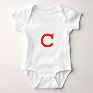 Letter C Baby Bodysuit