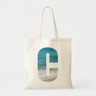 Letter C beach scene Tote Bag