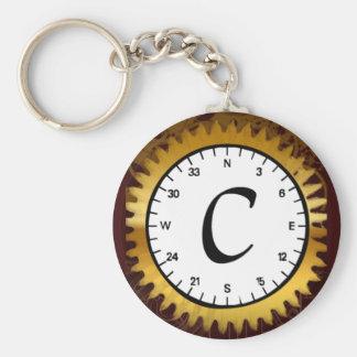 Letter C Clockwork Keychain