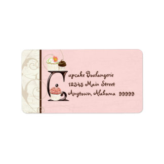 Letter C  Cupcake Business Address Mailing Labels