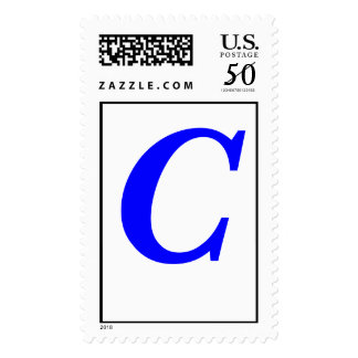 Letter C - Customized - Customized Postage