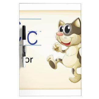 Letter C Dry Erase Board