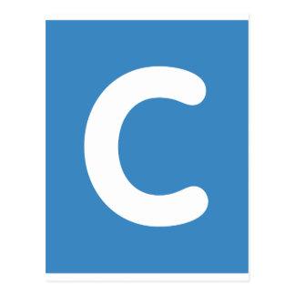 Letter C emoji Twitter Postcard