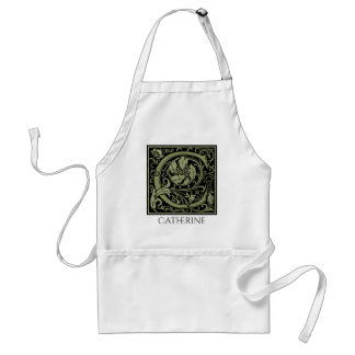 Letter C First Letter Monogram Personalized Adult Apron