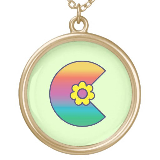 Letter C in Flores Rainbow Jewelry