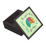 Letter C in Flores Rainbow Premium Trinket Box