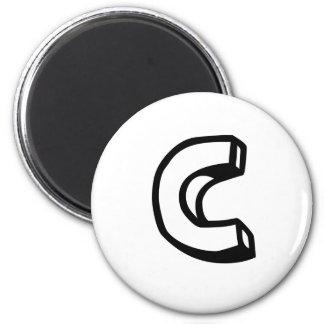 Letter C Magnet