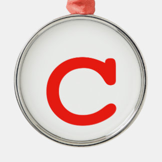 Letter c metal ornament