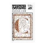 letter c monogram apparel stamp